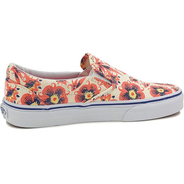 VANS vans sneakers mens Womens CLASSICS CLASSIC SLIP-ON classic slip-on (VINTAGE  FLORAL) BURNT CORAL (VN-0ZMRFP9 SS15)