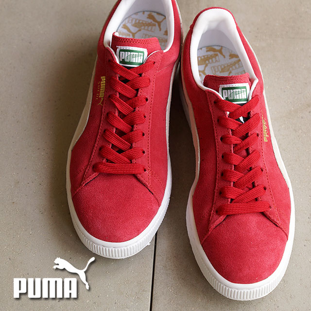 PUMA PUMA sneakers mens Womens SUEDE CLASSIC + suede classic plus TEAM REGAL  RED/WHITE (352634-05 SU15)