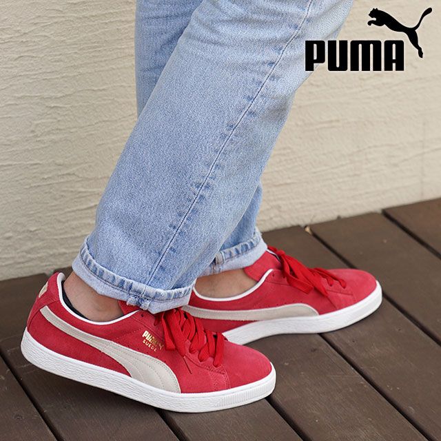 71ded561e56 PUMA PUMA sneakers mens Womens SUEDE CLASSIC + suede classic plus TEAM  REGAL RED WHITE (352634-05 SU15)