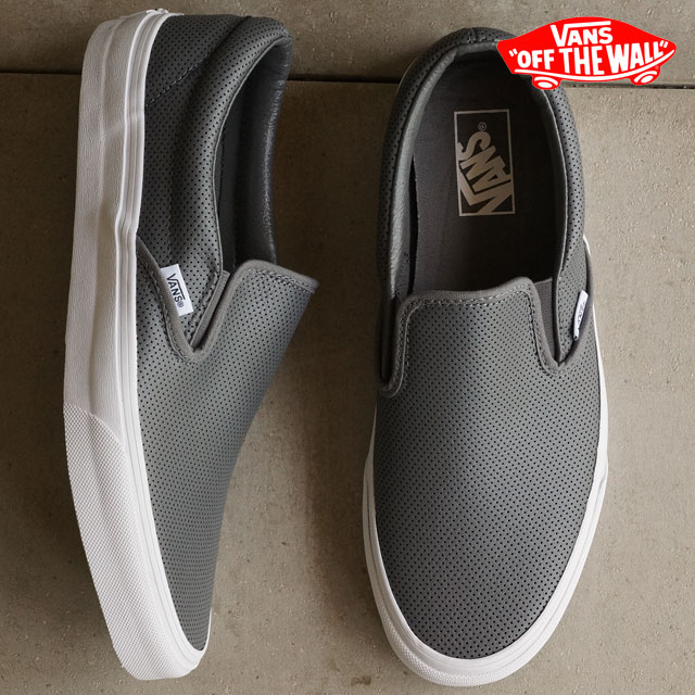 0a2ba11256 VANS vans sneakers men gap Dis slip-ons CLASSICS CLASSIC SLIP-ON classical  music classical music slip-on (PERF LEATHER) SMOKED PEARL (VN-018DGKB FW15)  ...