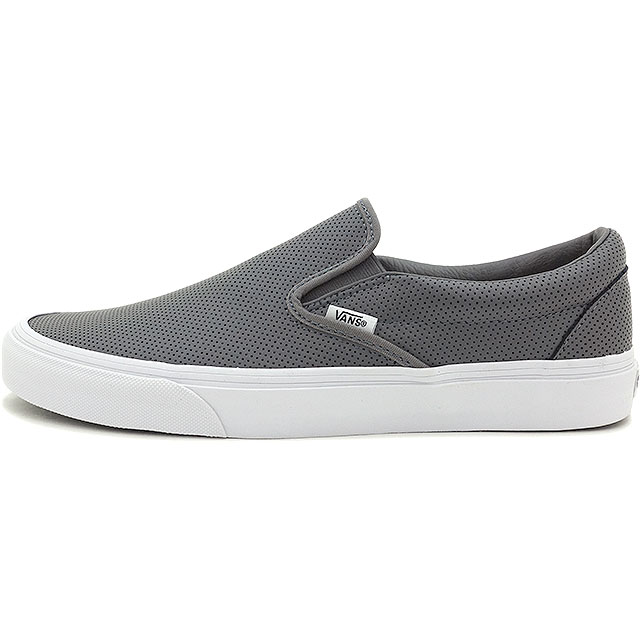 0caab34a070c97 VANS vans sneakers men gap Dis slip-ons CLASSICS CLASSIC SLIP-ON classical  music classical music slip-on (PERF LEATHER) SMOKED PEARL (VN-018DGKB FW15)  ...