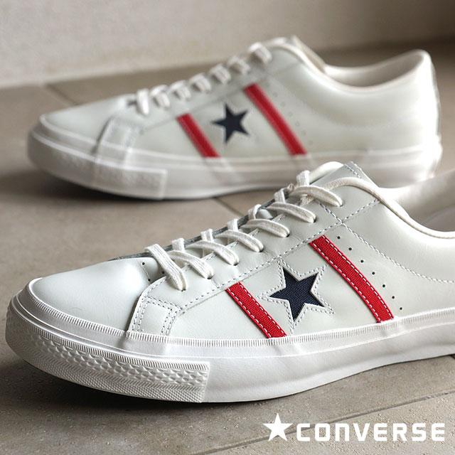 匡威匡威男式女式运动鞋明星 & 酒吧皮革 & Byrds 皮革白色 / 红色 / 海军 32340300 SS16