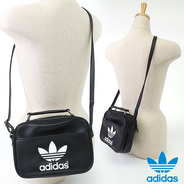 adidas Originals adidas originals Apparel Mens Womens MINI AIRLINER AC mini  airliner AC Pouch Black   White AJ8333 SS16 5866358a50f3e