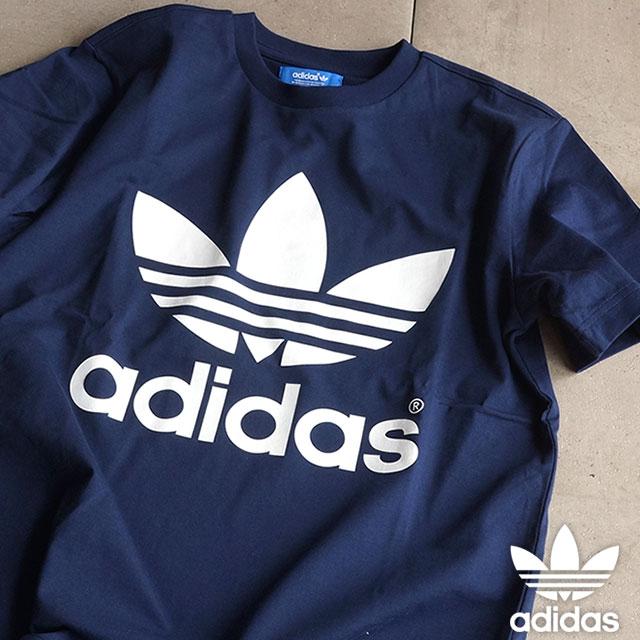low cost best wholesaler 100% quality adidas Originals adidas originals Apparel Mens ladies NAVY TEE trefoil Navy  T shirt night Indigo S92520 SS16