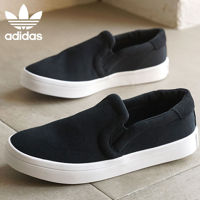 d67a6000 Adidas originals coat vantage slip-on slip-ons women adidas Originals  CourtVantage SLIP ON W core black / core black / running white S75171 SS16  ...