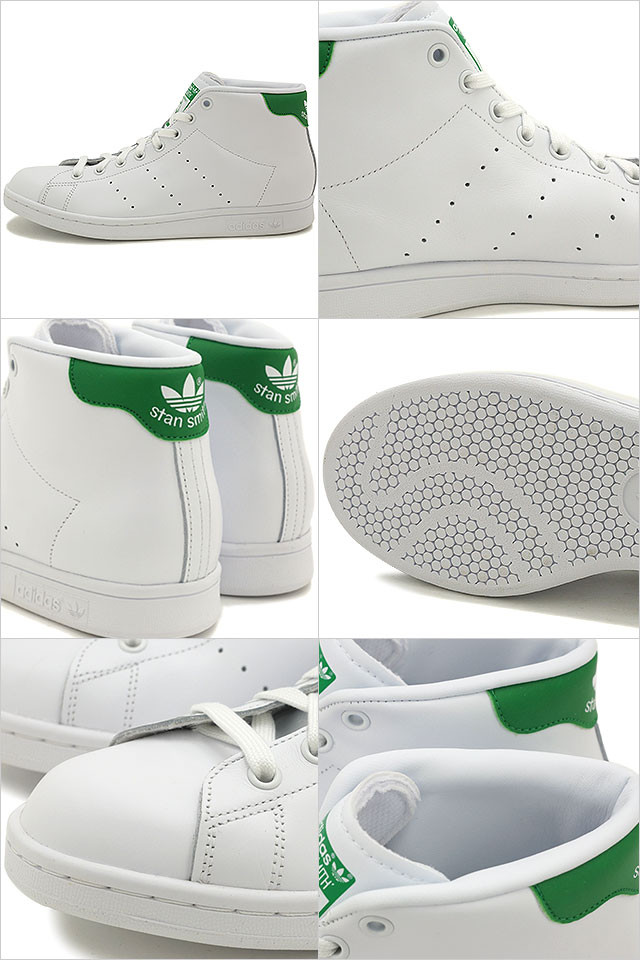 adidas Originals adidas originals sneakers mens Womens STAN SMITH MID Stan  Smith mid running white   running white   green S75028 SS16 db94f35fa