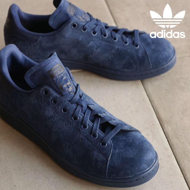 reputable site 04daf a39c8 adidas Originals Adidas originals sneakers men gap Dis STAN SMITH Stan Smith  suede cloth knight indigo   knight indigo   core black S75107 SS16 shoetime