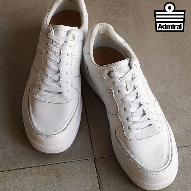 アドミラル カーディフ メンズ レディース スニーカー Admiral CARDIFF White/Smooth [SJAD1605-0177 SS16] shoetime【コンビニ受取対応商品】