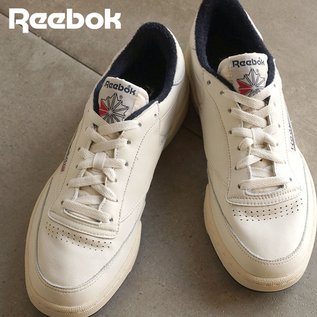 188681d799eded Reebok classical music men gap Dis sneakers club champion 85 vintage Reebok  CLASSIC CLUB C 85 VINTAGE CHALK PAPERWHITE COLLEGIATE NAVY EXCLNT RED  (V67900 ...