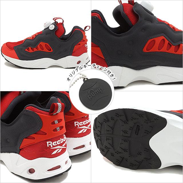 Reebok classics men's women's sneaker instapompfury road Reebok CLASSIC INSTAPUMP  FURY ROAD FLASH RED/MOTOR RED/WHITE/COAL (V69399 SS16)