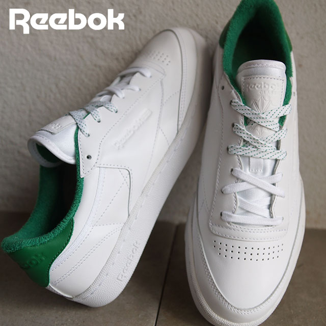 cf0e73b0ff6e9 ... Men Reebok Club C 85 White Green Shoes  SHOETIME ...