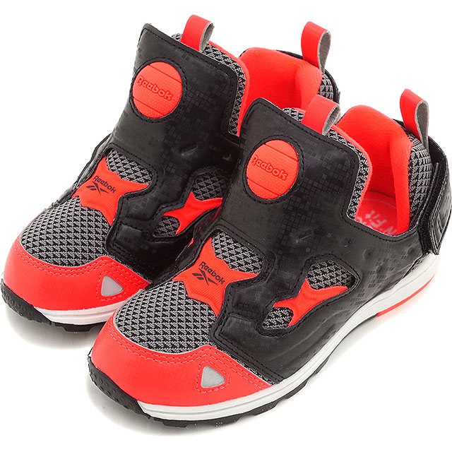 24c4e7f72e3c74 Reebok Classic kids sneakers versa pump fury SYN Reebok CLASSIC VERSA PUMP  FURY SYN   shark   Atomic red   white   black (V69967 SS16)