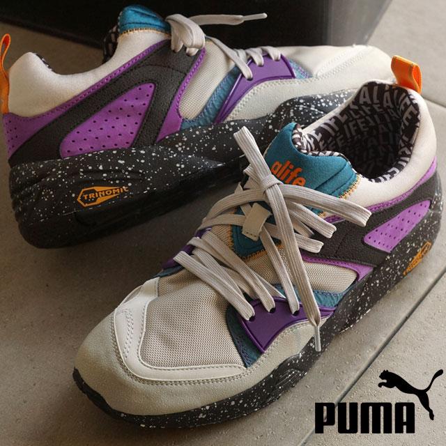 a7a6d95f3c05 Puma men gap Dis sneakers blaze of Glory X エーライフ PUMA BLAZE OF GLORY X ALIFE  gray violet   blue Coral (359