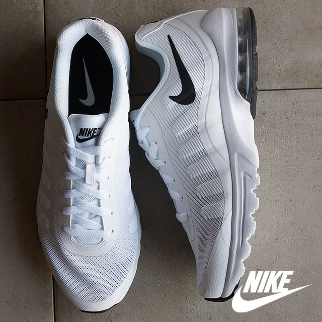 NIKE Mens sneakers Air Max in bigger NIKE AIR MAX INVIGOR white / black  (749680-100 SS16)