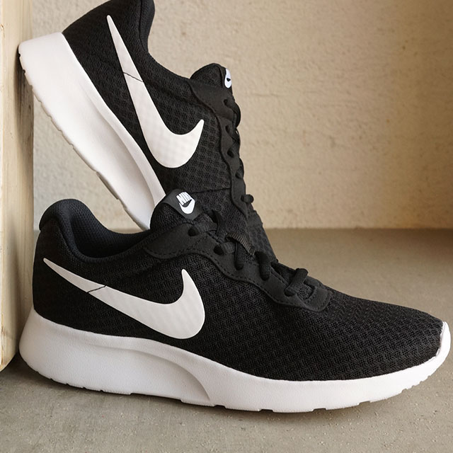 sports shoes 8eda3 bd062 Nike Ladys sneakers women tongue Jun NIKE WMNS TANJUN black  white  (812,655-011 SS16) shoetime