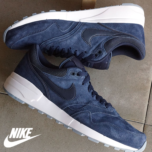 NIKE Mens sneakers air Odyssey PRM NIKE AIR ODYSSEY PRM Obsidian / Obsidian  / white / blue-grey (806252-401 SS16)