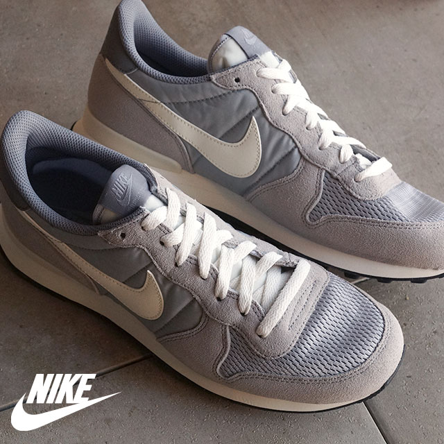 Nike men sneakers internationalist NIKE INTERNATIONALIST wolf gray sail sail cool gray stealth bomber black (828,041 015 SS16) shoetime
