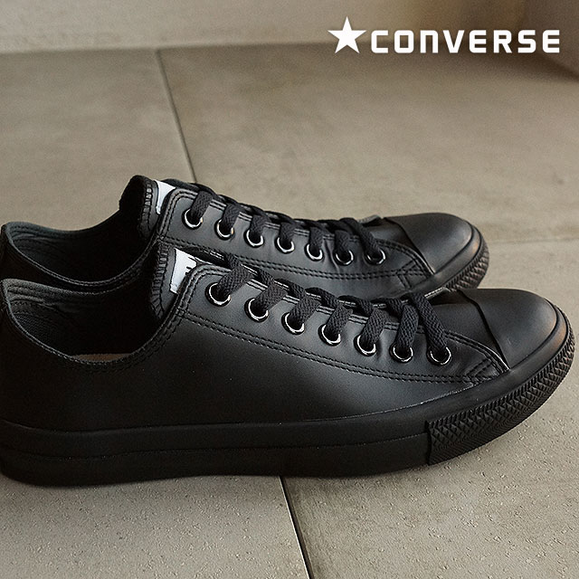 6a8ddf943a26 Converse leather all-stars low-frequency cut CONVERSE LEA ALL STAR OX black  monochrome shoes (32143487)