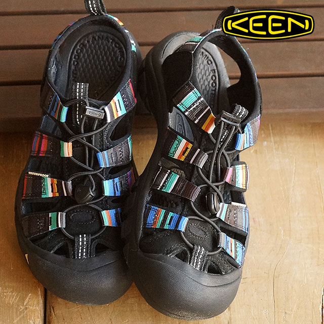 【サイズ交換無料】キーン ニューポート H2 スポーツサンダル 靴 ウィメンズ KEEN Newport H2 WMNS Raya Black 1003480-RYBK