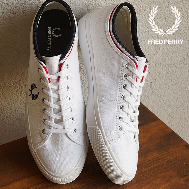 SHOETIME   Rakuten Global Market: FRED PERRY Fred Perry sneakers men's KENDRICK TIPPED CUFF CANVAS Kendrick typed cuff canvas WHITE/NAVY/RED (B5210-100 SS15)