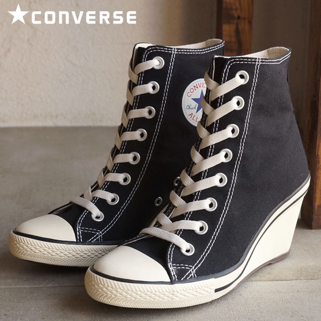 CONVERSE converse Womens sneakers ALL STAR WEDGE HI all-star wedges cut  black 32099221 SS16 ce9ae1d33
