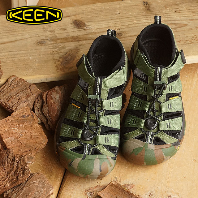 476a1ce6f2b7 KEEN Kean kids use sandals Newport H2 YOUTH Newport H two Crushed Bronze  Green (1014259 SS16) shoetime