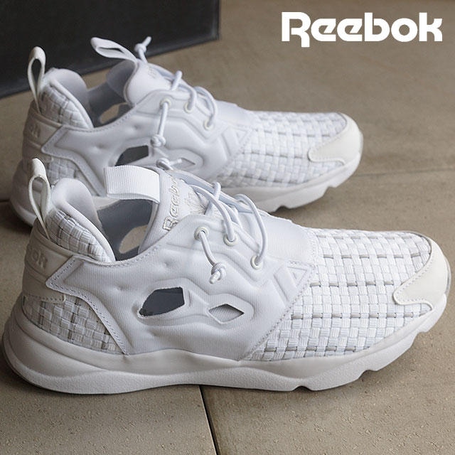 V70797 Womens Reebok Furylite - White/Steel