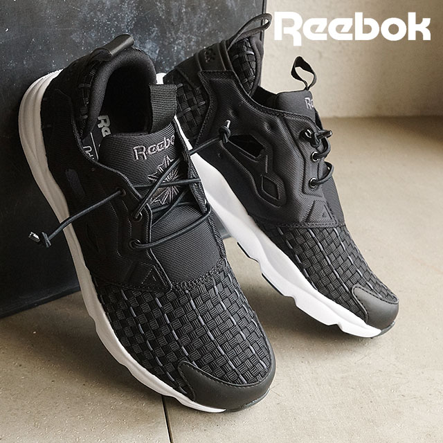 jakość kupuję teraz najlepszy hurtownik リーボッククラシックメンズレディーススニーカーフューリーライトニューウーブン Reebok CLASSIC FURYLITE NEW WOVEN  black /DGH solid gray / white / white (V70798 SS16) shoetime