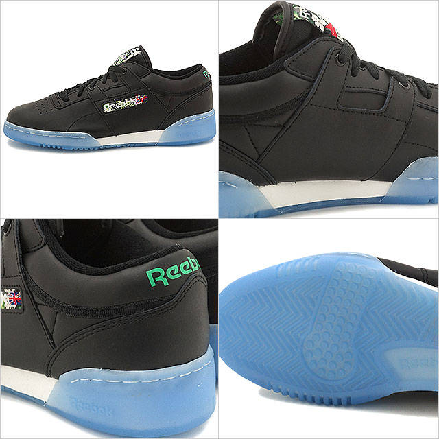 f1f2b3beea93ac Reebok classical music men gap Dis sneakers practice game roque Lean SF  Reebok CLASSIC WORKOUT LO CLEAN SF black   white   white   ice (V67877  SS16) ...
