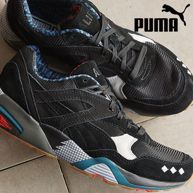 PUMA men s women s sneakers R 698 x ALife black PUMA R698 X ALIFE BLACK  black   glacier grey (360827-01 SS16) c78936fe2f