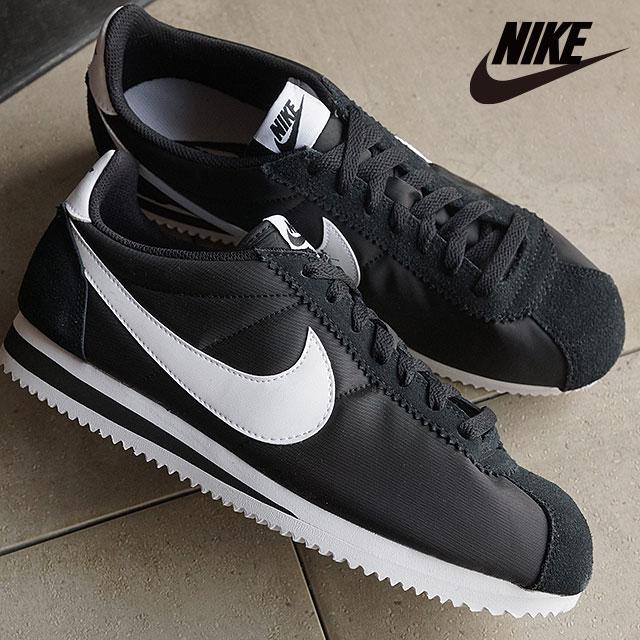 new product e8c76 e1938 ナイキメンズスニーカークラシックコルテッツナイロン NIKE CLASSIC CORTEZ NYLON black / white  (807,472-011 SS16) shoetime