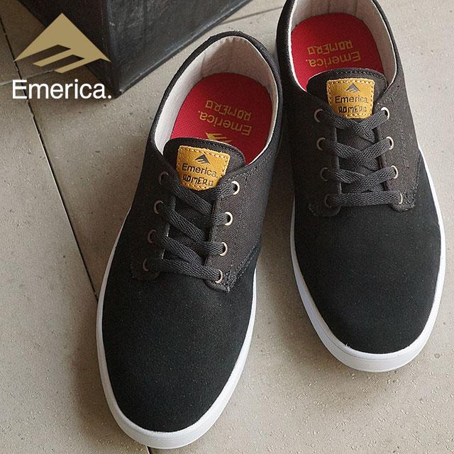 00a5cba32ef EMERICA Eymet Rika sneakers skating shoes ROMERO LACED Romero race BLACK TAN
