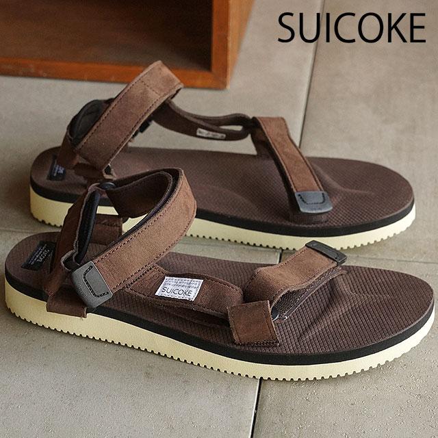 2e30ede65b2b SUICOKE Sui cook men gap Dis strap sandals vibram sole DEPA-ecs brown  (OG-022A SS16) shoetime