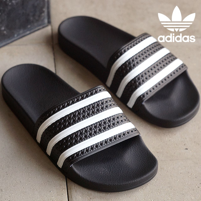 5b807e1386fee4 adidas adidas originals Sandals ADILETTE adiliette shower Sandals black    white and black (280647 SS15)