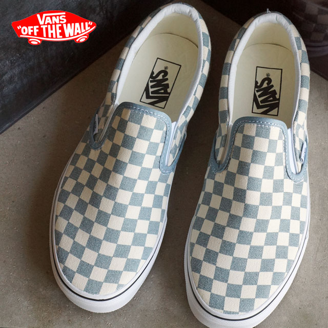 VANS vans slip-ons sneakers men gap Dis CLASSIC SLIP-ON classical music  slip-on (CHECKERBOARD) CITADEL/WHITE (VN0003Z4IC4 SS16) shoetime
