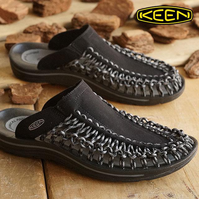 fdfdd93d530b KEEN UNEEK SLIDE Keane unique slide sandal Black Gargoyle MEN (1014625 SS16)