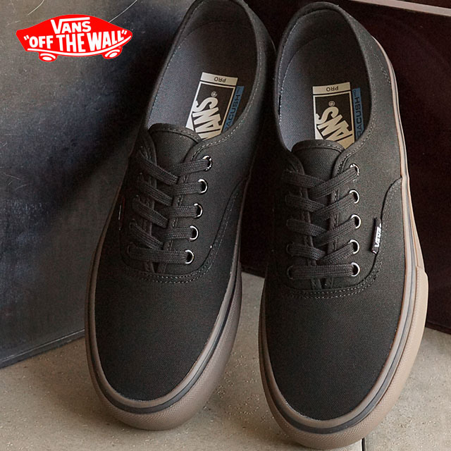 Vans men's women's skate shoes sneaker Adidas Pro VANS AUTHENTIC PRO  (CANVAS) BLACK/GUM (VN000Q0D7HI SS16)