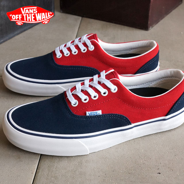 0e22a79b0f0606 Vans men s women s skate shoes era Pro sneakers VANS ERA PRO (50th) 76  NAVY RED (VN000VFBJ6KSS16)