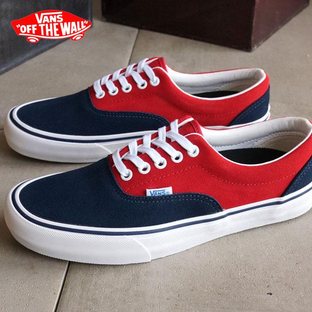 f91a07b578 Vans men s women s skate shoes era Pro sneakers VANS ERA PRO (50th) 76  NAVY RED (VN000VFBJ6KSS16)