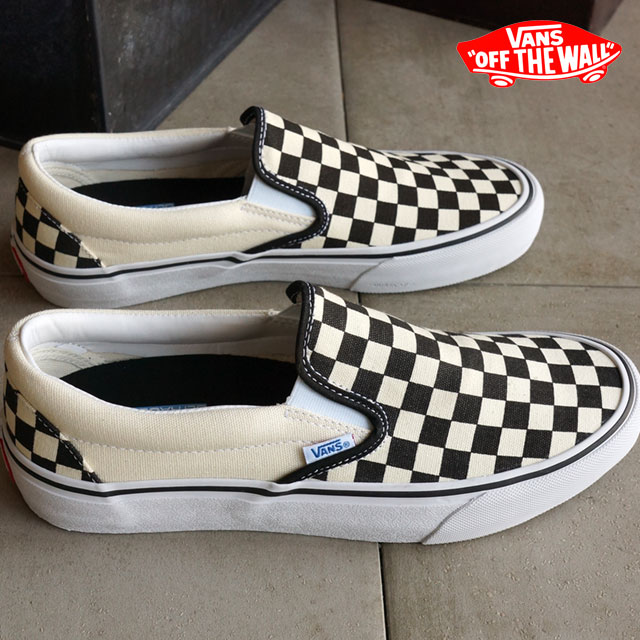 8ffb7f4cc4e599 Vans men s women s Skate Shoes Sneakers slip-on Pro VANS SLIP-ON PRO (50th)  82 CHECKERBOARD (VN00097MJ6JSS16)