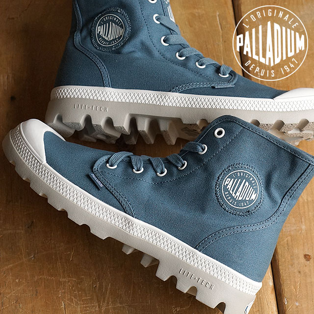 d4faebf8384 Palladium Pampa high canvas PALLADIUM mens sneakers Pampa HI LiteCVS MNS  NordicBlue/White/Vapor (3402-489)