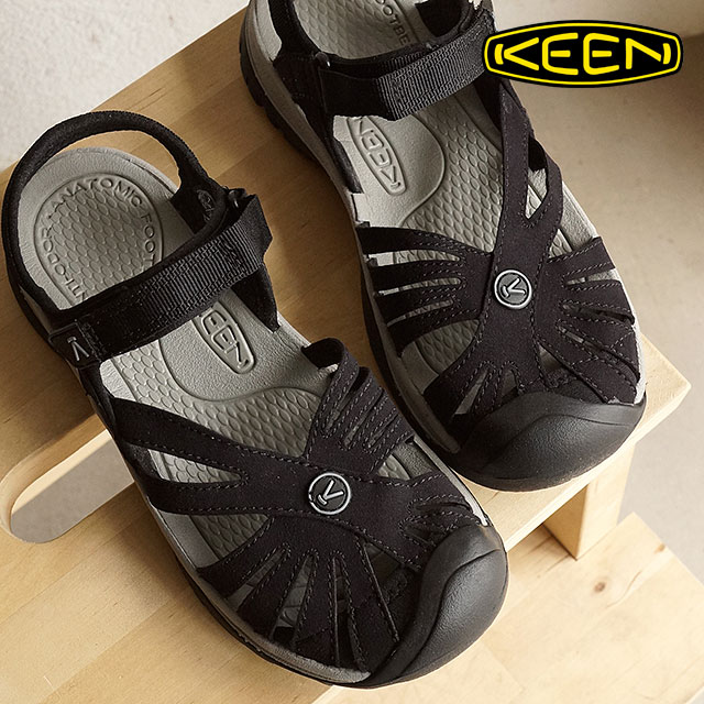 【月間優良ショップ】【サイズ交換無料】キーン ローズサンダル 靴 KEEN Rose Sandal Black/Neutral WMN ウォーターシューズ サンダル 靴 ウィメンズ Gray(1008783)