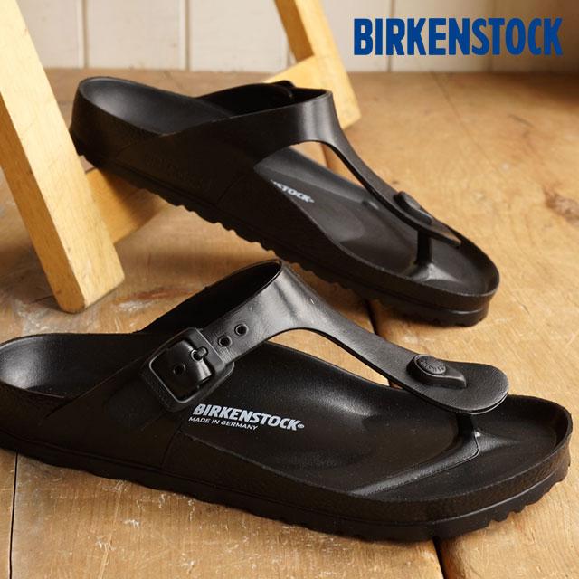 55e45bc5ed59 BIRKENSTOCK Birkenstock Womens mens GIZEH sandal Giza EVA Black (128201  SS15)