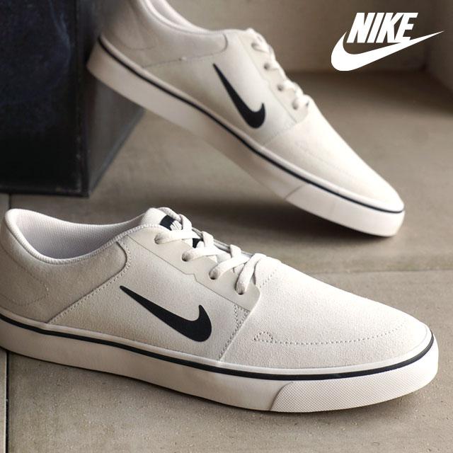 brand new latest big sale Nike men skating shoes sneakers SB port more NIKE SB PORTMORE summit white  / black (725,027-100 SU16) shoetime