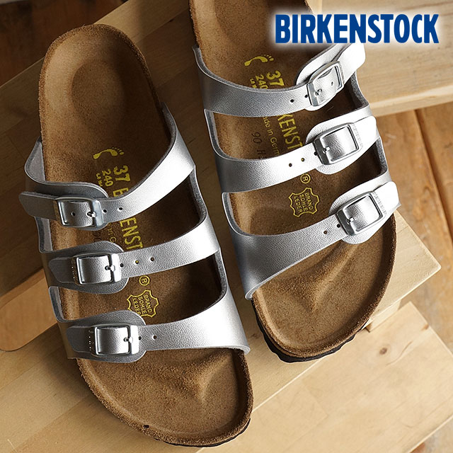 b9094a533c89 ビルケンシュトックフロリダビルコフロー BIRKENSTOCK Lady s sandal FLORIDA SILVER (GC954383 SS16)