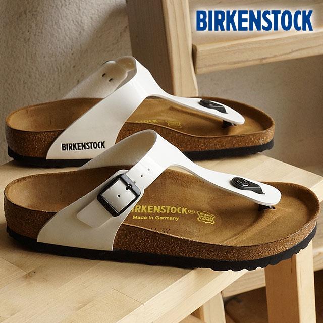 ビルケンシュトック ギゼ ビルコフロー パテント BIRKENSTOCK レディース サンダル 靴 GIZEH WHITE (GC543761 SS16)【コンビニ受取対応商品】