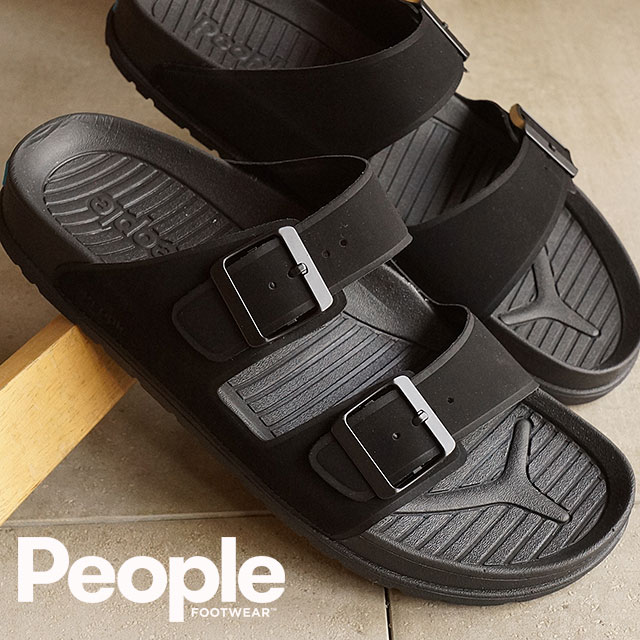 ae6c1cacc8ed The people footwear Lennon People Footwear mens Womens Sandals THE LENNON  REALLY BLACK REALLY BLACK (NC04-030 SS16)