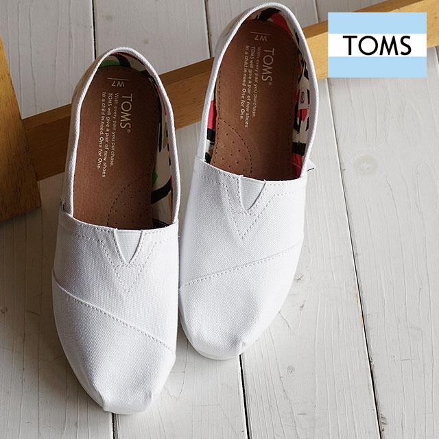 Toms Shoes Womens Slip On Seasonal Classics Optic White Canvas 10005987 Ss16