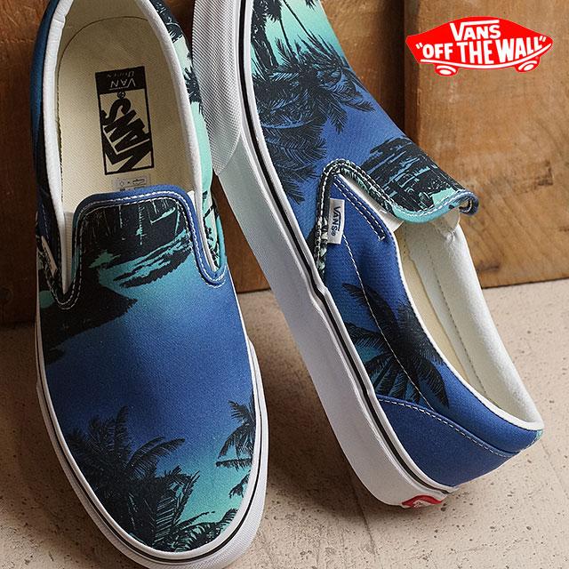 efccd4b58e3722 VANS vans slip-on sneakers mens Womens CLASSIC SLIP-ON classic slip-on (VAN  DOREN) HOFFMN blue (VN0003Z4IX4 SS16)