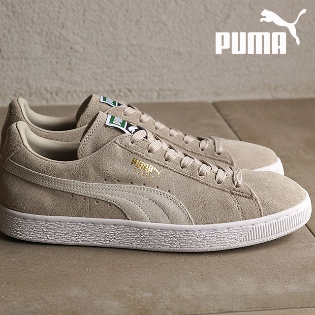 the latest 4dbc5 00607 Puma men gap Dis sneakers suede cloth classic positive PUMA SUEDE CLASSIC +  oatmeal / white (356,568-80 SU16) shoetime